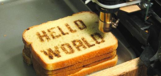 Hello World na pieczywie